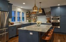 Light filled open concept kitchen design completes this functional and beautiful kitchen remodel in Minneapolis.