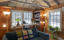 A writer's dream to work in this remodeled shed in this Twin Cities remodel.